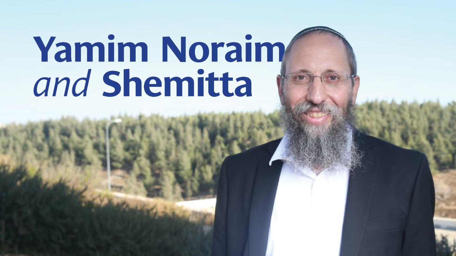 Yamim Noraim and Shemitta