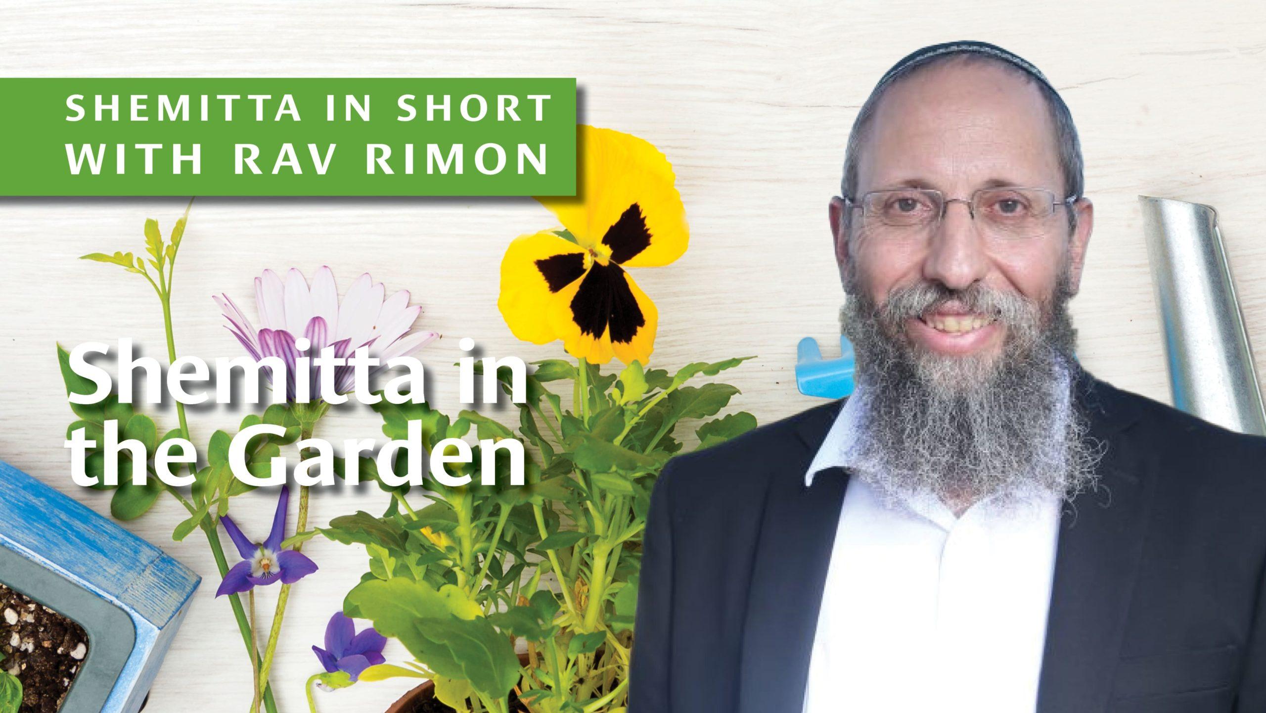 Shemitta in the Garden